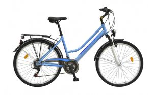 Bicicleta oras Travel 2654 - model 2015 26''-Alb-Albastru-430 mm