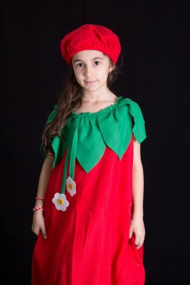 Costum serbare ardei, gogosar, rosie, lalea 753