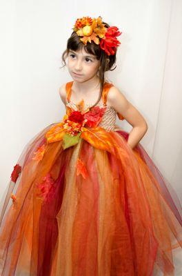 Inchiriere rochie serbare fetite Zana Toamnei 0166