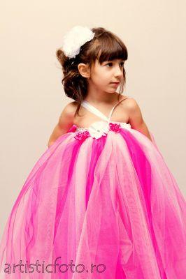 Rochie eleganta  roz fetite 236