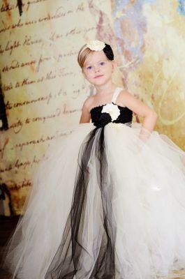 Rochie ocazie fetite alb cu negru 71