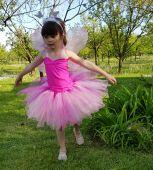 Rochita serbare fluturas roz fetite 1407