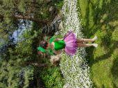 Rochita serbare floare roz 1409