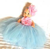 Rochita bleu pentru botez 5643V